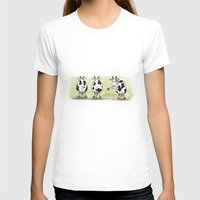cows T-shirts featuring Three cows by Tali Shemes