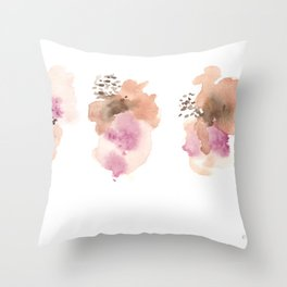 180807 Abstract Watercolour 2 | Colorful Abstract |Modern Watercolor Art Throw Pillow