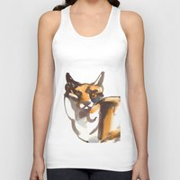 mr fox Tank Tops featuring Mr Fox by Ryan Hodge Illustration