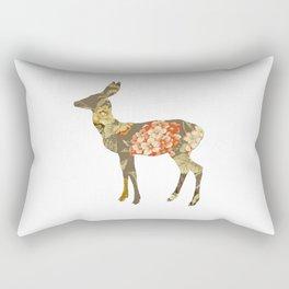 The Deer and the Garden Rectangular Pillow