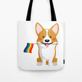 LGBT Gay Pride Flag Corgi - Pride Women Gay Men Tote Bag