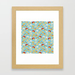Cheese food gifts food fight apparel and gifts Framed Art Print
