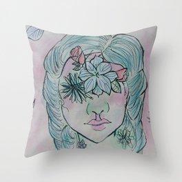 Flowered Throw Pillow