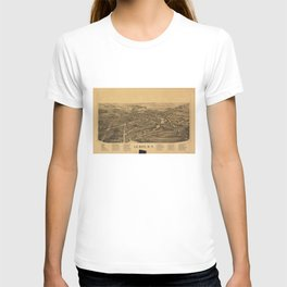 Aerial View of Le Roy, New York (1892) T-shirt