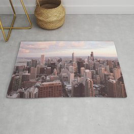 Downtown Chicago Skyline, Fine Art Photography Rug