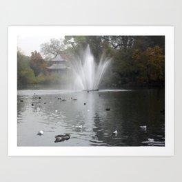 Fountain Lake Art Print