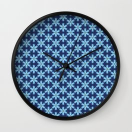 Pastel Blue Flower Wall Clock