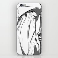 gandalf iPhone & iPod Skins featuring Gandalf by 4nima