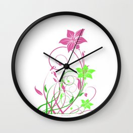 Spring's flowers Wall Clock