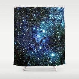 Ocean Blue Space Galaxy : Eagle Nebula Shower Curtain