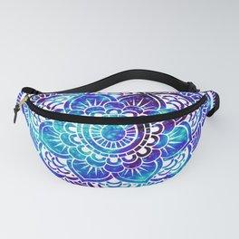 Mandala : Bright Violet & Teal Galaxy Fanny Pack
