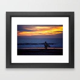 Solo Surfer Framed Art Print