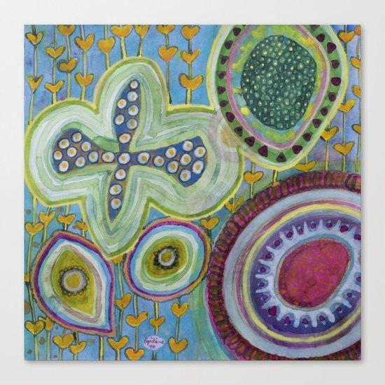 Peaceful Heartfelt Flower Power Canvas Print