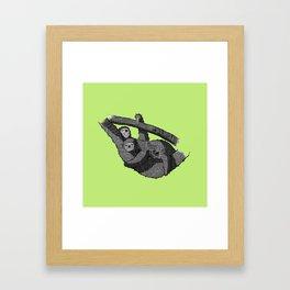 Newspaper Sloths Framed Art Print