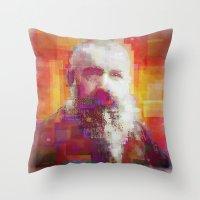 monet Throw Pillows featuring Claude Monet by Steve W Schwartz Art