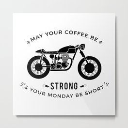 Cafe Racer - Monday Metal Print