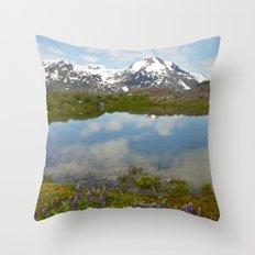 Alpine Pond Throw Pillow