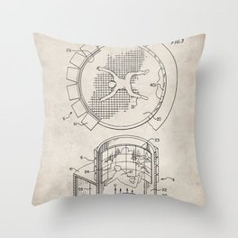 Skydiving Wind Tunnel Patent - Sky Diving Art - Antique Throw Pillow