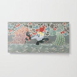 Amazing whispering mermaid Metal Print