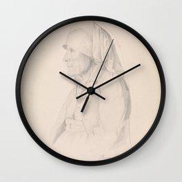 Adolph Tidemand - Kari Helgesdatter Vasenden, Granvin (1843) Wall Clock