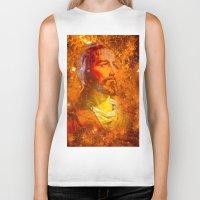 jesus Biker Tanks featuring Jesus by Saundra Myles