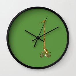 Long Bike Ride Wall Clock