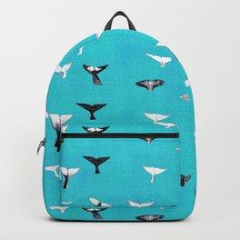 Whale Fluke Pattern Backpack