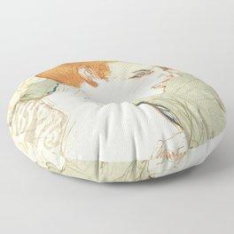 "Henri de Toulouse-Lautrec ""Mademoiselle Marcelle Lender, en Buste"" Floor Pillow"