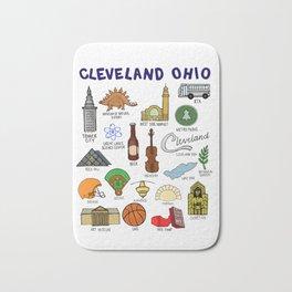 Cleveland Ohio Icons Bath Mat