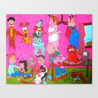 garfield Canvas Prints featuring Mature Garfield by tonitiger415