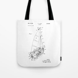 patent art Court Sailboat 1964 Tote Bag