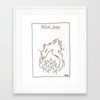political Framed Art Prints featuring Political Cartoon by turtleinajockstrap