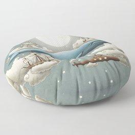Ocean Meets Sky Floor Pillow