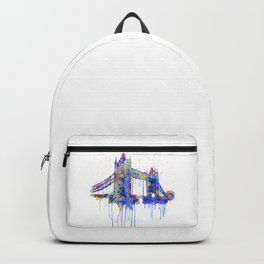 Tower Bridge watercolor Backpack