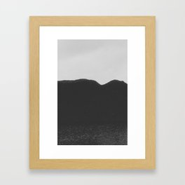 coal Framed Art Print