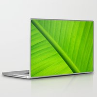 banana leaf Laptop & iPad Skins featuring Upclose Banana Leaf by Erin Mac Photography