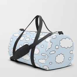 Celestial sky with little clouds of caricatures Duffle Bag