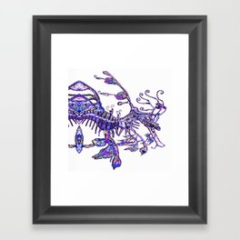 Leafy Seadragon II original illustration by Sheridon Rayment. Framed Art Print