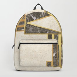 Luxurious gold and marble Backpack