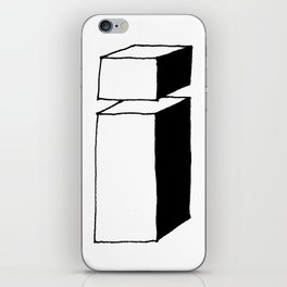letter i shade iPhone Skin