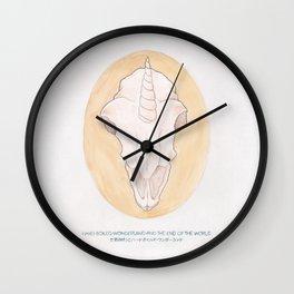 Haruki Murakami's Hard-Boiled Wonderland and the End of the World // Illustration in Watercolour Wall Clock