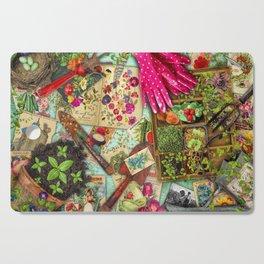 A Vintage Garden Cutting Board