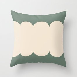 My Humps - Green and Beige Throw Pillow