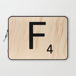 Letter F - Scrabble Art Laptop Sleeve