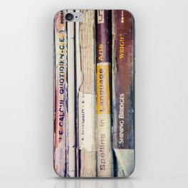 Vintage School Books iPhone Skin