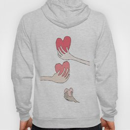 THREE HEARTS ARE BETTER THAN ONE Hoody