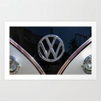 vw bus Art Prints featuring VW Bus by Film & Pixels