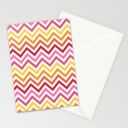 Rainbow Chevron #1 Stationery Cards