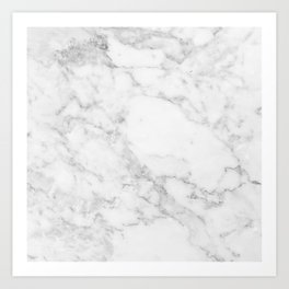 White Marble Edition 2 Art Print