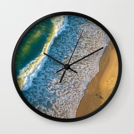 Waves on The California Coast Aerial Nature Photography Wall Clock